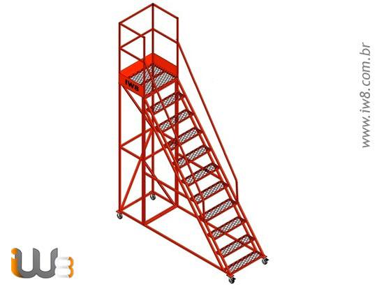 Escada Móvel 10 Degraus