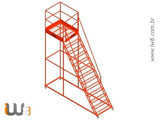 Escada Plataforma Industrial 12 Degraus