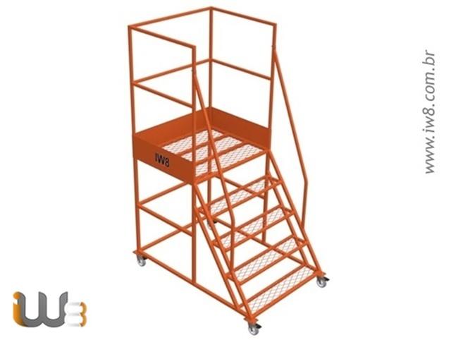 Escada Plataforma com Rodas