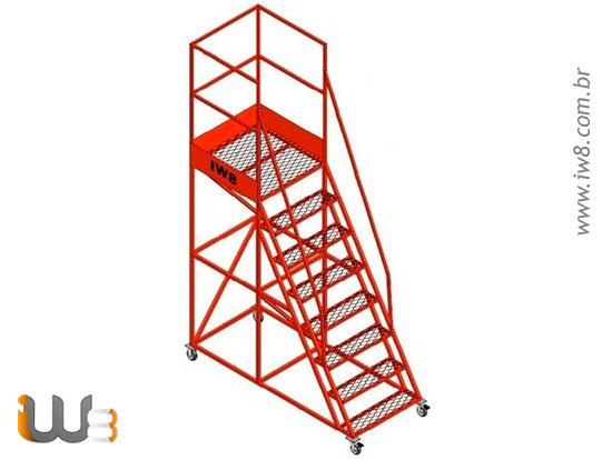 Escada Plataforna 7 Degraus